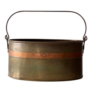 Vintage Brass and Copper Bucket