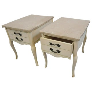 French Provencal End Tables - Pair