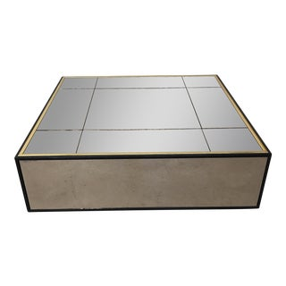 Smoke Bronze Mirror Cube Coffee Table