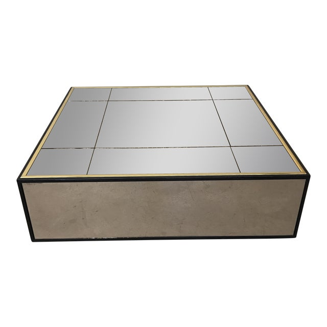 Smoke Bronze Mirror Cube Coffee Table - Image 1 of 11