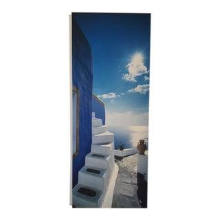 Mounted Photograph Santorini Stairs