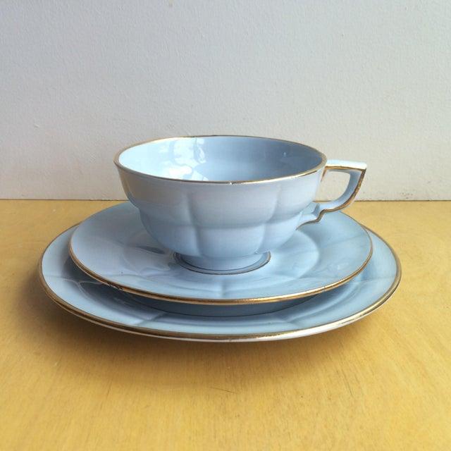 3-Piece Upsala Ekeby Cup & Saucer Set - Image 2 of 8