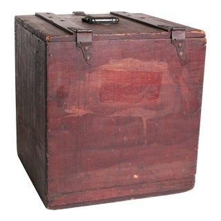 Vintage Primitive Brown Shipping Crate Wood Carry Box