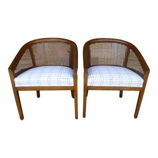 Mid-Century Cane Chairs - A Pair