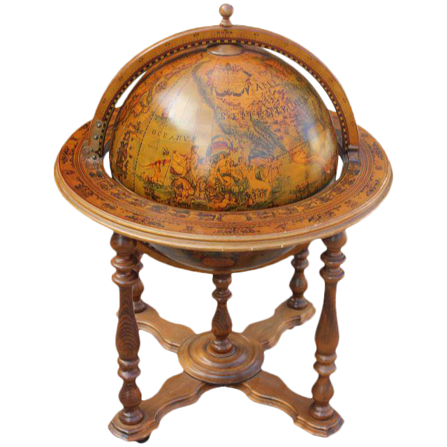 french midcentury mahogany world globe bar c1950u0027s
