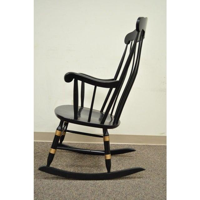Vintage Sigill College University Nichols & Stone Windsor Rocking Chair - Image 9 of 11