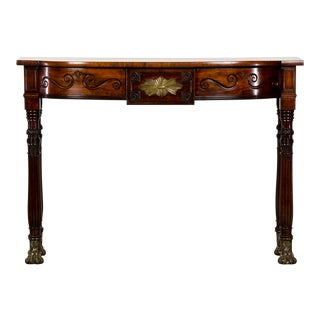 George Bullock Style William IV Period Antique English Mahogany Console Table, circa 1830