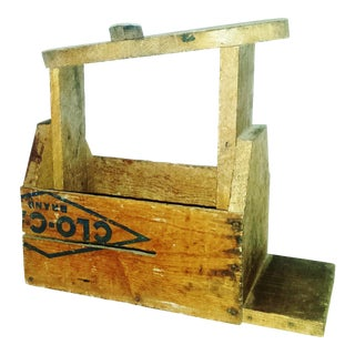 Primitive Shoe Shine Box Made From Farm Crates