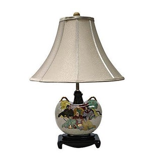 Murray Feiss Hand-Painted Lamp