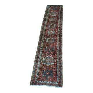 """Vintage Persian Karajeh Runner - 3'5"""" x 15'4"""""""