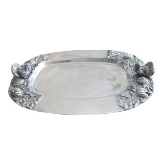 Armitale Silver Holiday Serving Tray