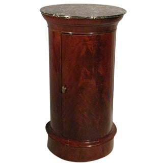 French Mahogany Cylindrical Cabinet