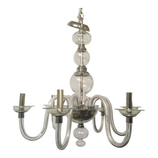 Pottery Barn Blown Glass Chandelier