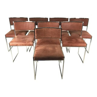 8 Italian Leather Dining Chairs