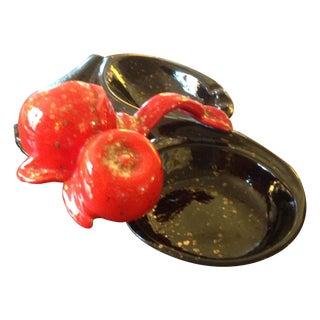 Mid-Century Cherry Ashtray Jewelry Tray