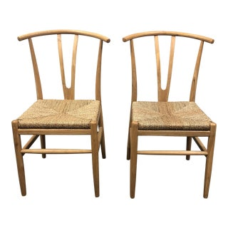 Wooden Duck Teak Side Chairs - a Pair