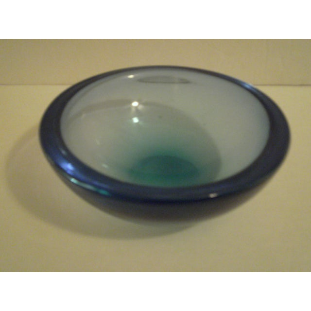 Blue Art-Glass Bowl - Image 3 of 3