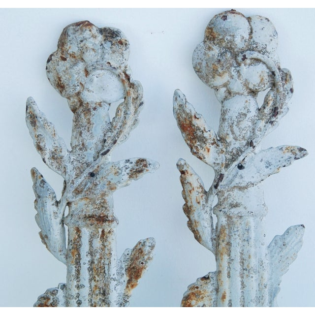 19th C. French Architectural Iron Details - Pair - Image 8 of 11