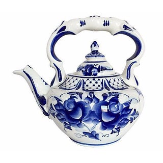 Vintage Delft-Style Blue & White Teapot
