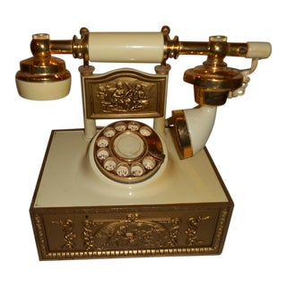 Hollywood Regency Rotary Telephone