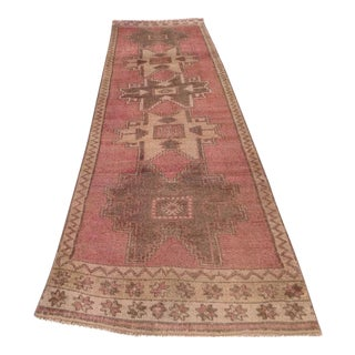 Vintage Hand Knotted Anatolian Runner - 2′9″ × 10′10″
