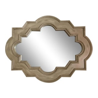 Contemporary Taupe Mantel Mirror