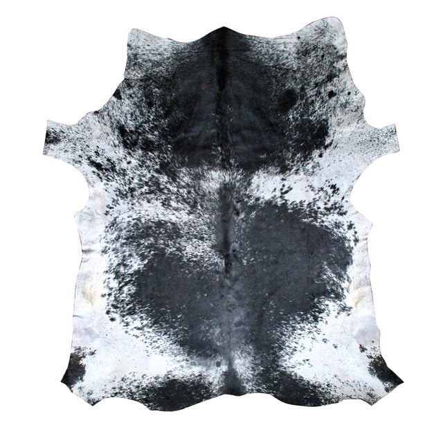 Black, Gray and White Cowhide Rug - Image 1 of 2