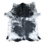 Image of Black, Gray and White Cowhide Rug