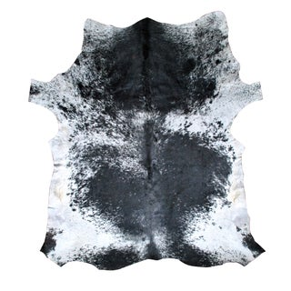Black, Gray and White Cowhide Rug