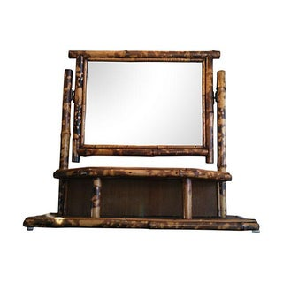 Vintage Tortoise Bamboo Vanity Table-Top