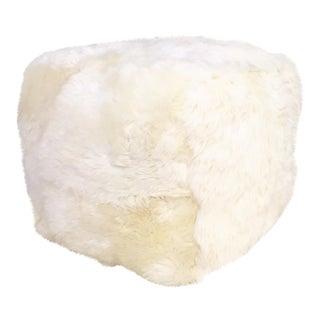Sheepskin Cube Ottoman