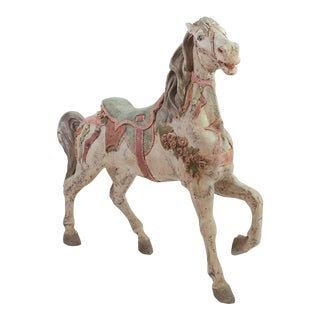 Antique Hand-Painted Carousel Pony