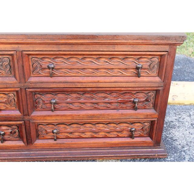 Antique Carved Spanish Boxwood Dresser - Image 7 of 11