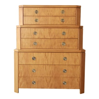 Charles Pfister for Baker Furniture Triple Chest-On-Chest Primavera Highboy Dresser