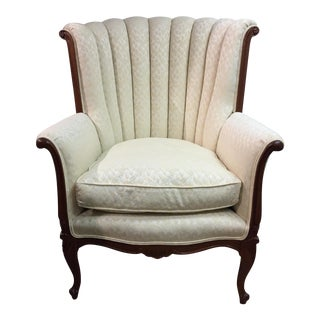 Traditional Wood Framed Bergere Arm Chair