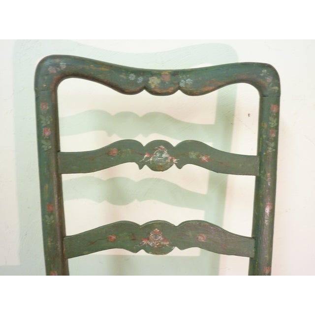 18th C. French Painted Chairs - A Pair - Image 4 of 6