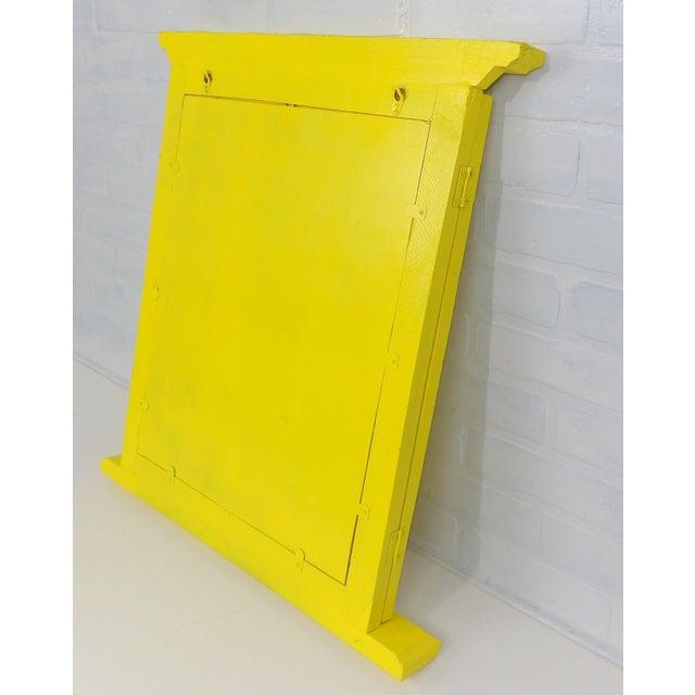 Yellow Window Pane Wall Mirror - Image 7 of 9