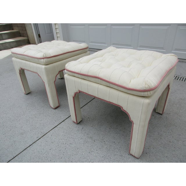 Parsons Style Stools or Footstools -A Pair - Image 5 of 10
