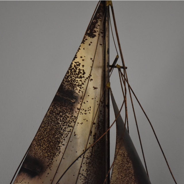Curtis Jere Sailboat Wall Hanging Sculpture - Image 3 of 11