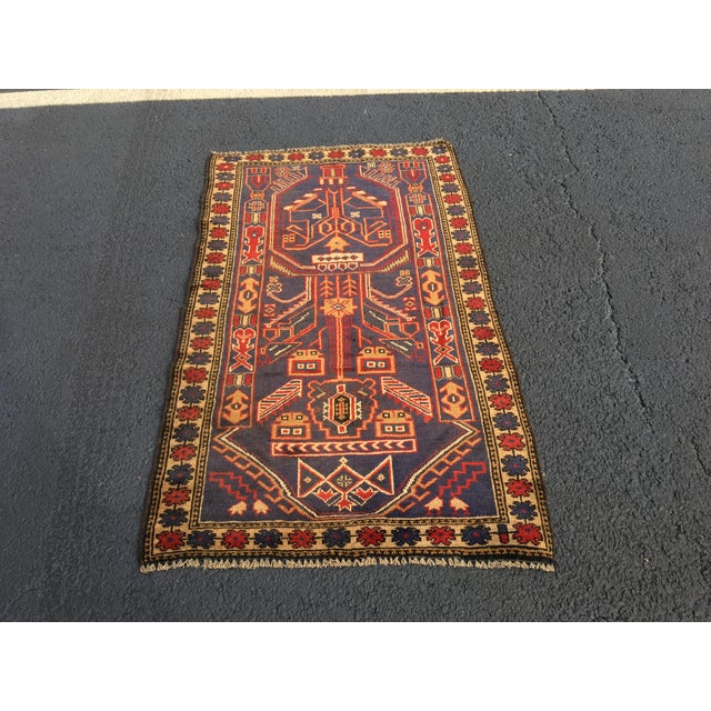 "Vintage Persian Baluchi Rug - 2'10""x4'9"" - Image 2 of 10"