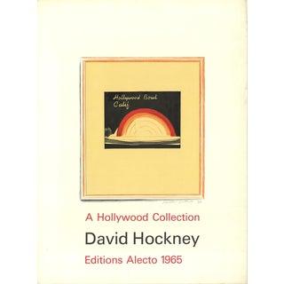 "1965 David Hockney ""Hollywood Bowl"" Signed Mixed Media Print"