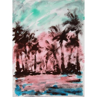 """""""Tropical Sunset #1"""" Landscape Painting by Cleo"""