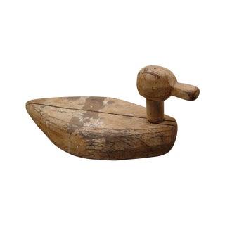 Folk Art Hand Carved Duck Decoy