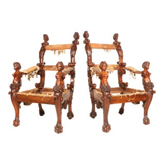 1800s Antique French Chairs - a Pair