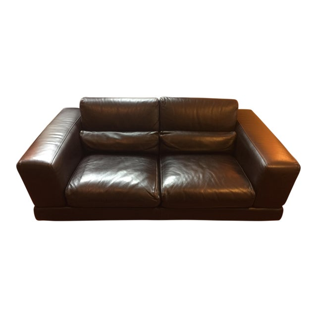 Roche Bobois Low Profile Leather Loveseat - Image 1 of 11