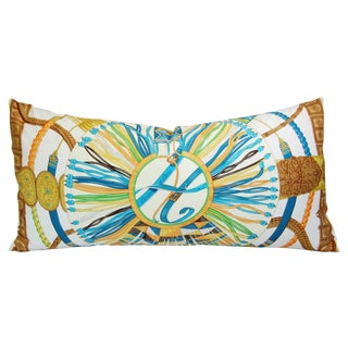 Hermes Laurence Bourthoumieux Silk Pillow