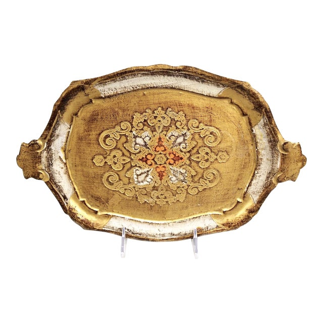 Italian Hand-Painted & Gilded Florentine Tray - Image 1 of 6