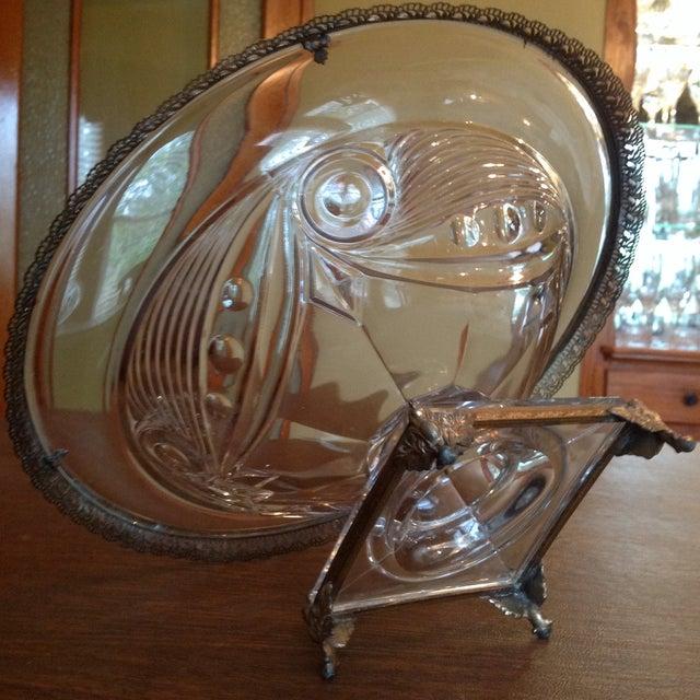 Image of Heisey Mounted Ipswich Pattern Art Deco Bowl