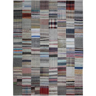 Hand Knotted Patchwork Kilim - 8′ × 9′10″
