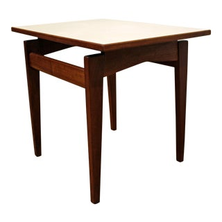 Mid-Century Danish Modern Jens Risom Floating Top Teak End/Side Table
